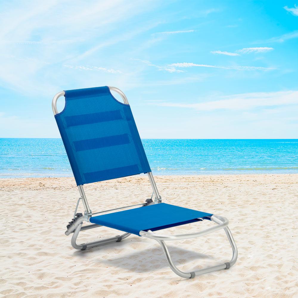 Silla de playa jardín Tumbona Aluminio Plegable TROPICAL 4