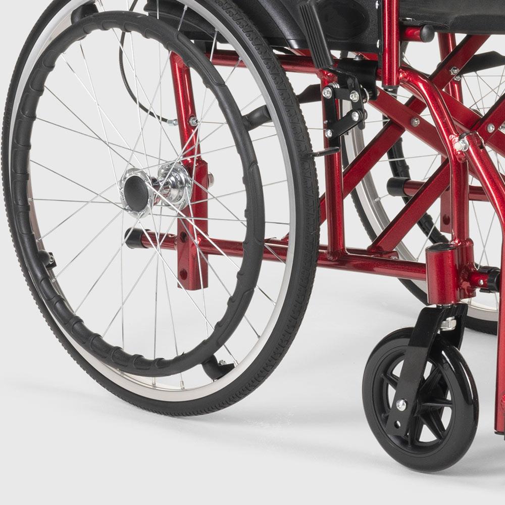 ebay - Silla de ruedas plegable en tejido ortopédico con frenos discapacitados y ancian
