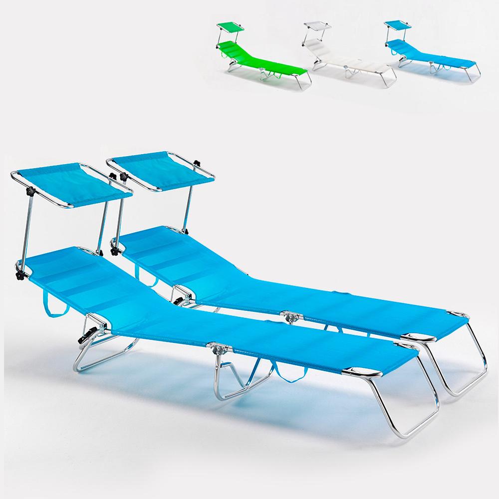 2 camas de playa cama plegable de aluminio plegable de mar Cancun