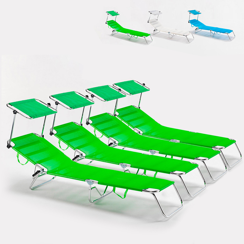 4 camas de playa cama plegable de aluminio plegable de mar Cancun