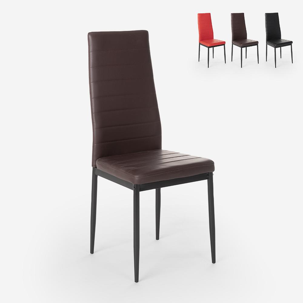 Silla tapizada de diseño moderno para cocina, comedor y restaurante Imperial Dark